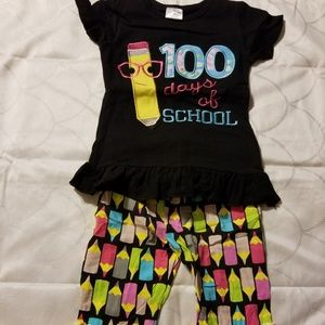 Other - 100 Days of School ruffled pant set